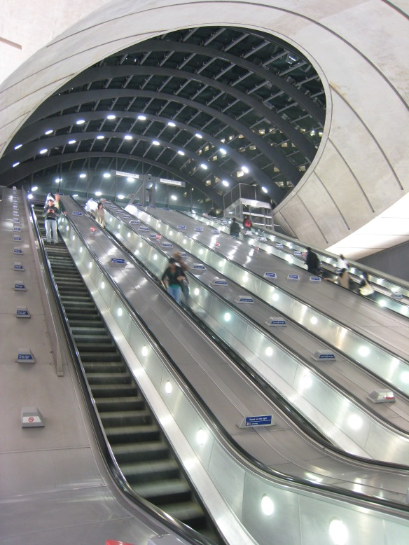 I took this picture a few years ago of Canary Wharf underground. It's an awful lot busier now, worryingly so.
