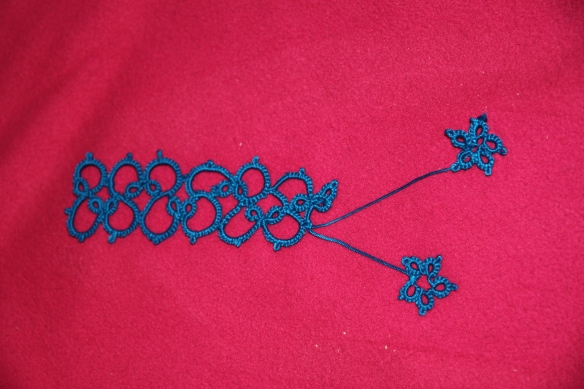 First real tatting conquest. Please excuse the mistakes!!